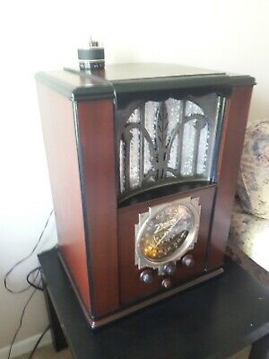 ANTIQUE ,VINTAGE, DECO ,COLLECTIBLE - OLD TUBE RADIO ZENITH 6s27 RESTORED