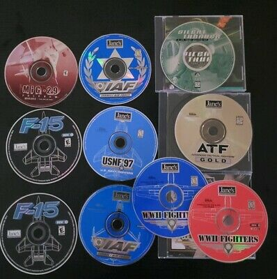 JANE'S FIGHTERS ANTHOLOGY & Flight Unlimited PC CD-ROM Games