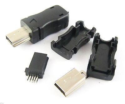 10sets Mini USB 10Pin Plug Male Socket Connector With Plastic Cover for DIY