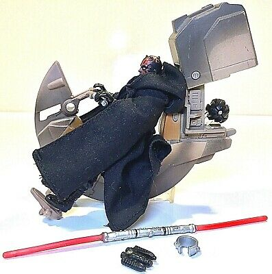 Vintage  Kenner  Star Wars  ~  SITH SPEEDER & DARTH MAUL ~ WORKS  ~  FREE & FAST