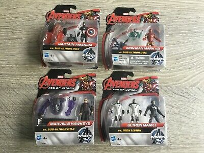 Marvel Avengers Age of Ultron -action Figures Set Of 4 Vs Sub Ultron BRAND NEW