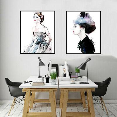 Nordic Audrey Hepburn Canvas Oil Painting Poster Picture Home Wall Art Decor