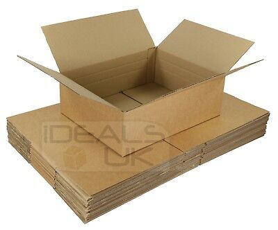 25 x ROYAL MAIL OLD MAXIMUM SIZE SMALL PARCEL CARDBOARD BOXES 450x350x80mm