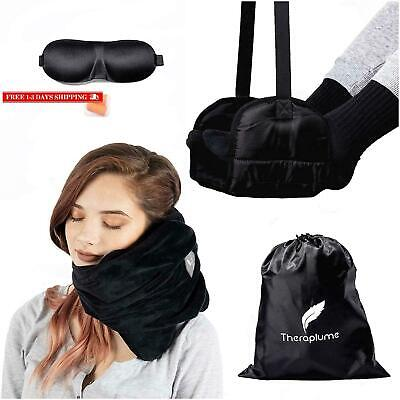 Theraplume Scarf Pillow And Travel Accessories Kit: Neck Support Travel Pillow A