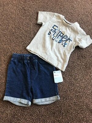 Mothercare Baby Boy 3-6 Months Super Dude Outfit Gift 2 Piece Set