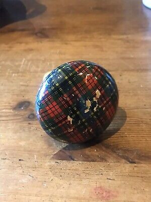 Antique Victorian Scottish Mauchline MACBETH Tartan Ware Sewing Darning Mushroom