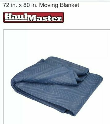 "72"" X 80"" Blue Padded Quilted Furniture Movers Moving Blanket Pad 2-pack"