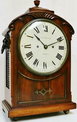 Antique English Regency Bracket Clock 8 Day Twin Fusee Bell Striking J.W Hancock