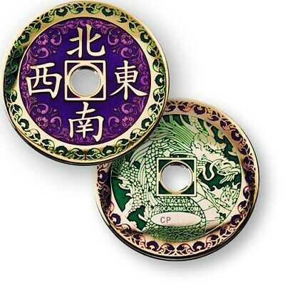 Chinese Dragon Geocoin for Geocaching - new, packaged + unactivated