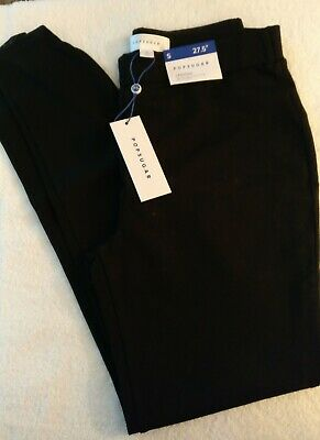 Womens Black Stretch Ankle Leggings ~ Popsugar ~ S ~ Zip At Ankle ~ New ~  ❄⛄