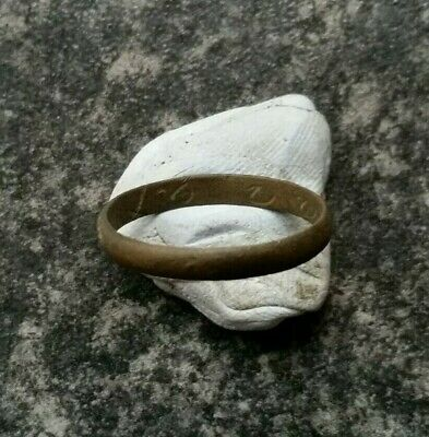 """Metal Detecting Find Finger / Posie Ring with Inscription """"LOVE ALL"""""""