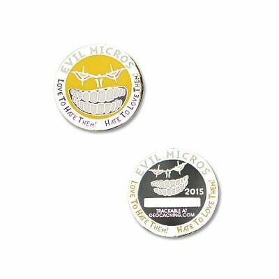 Evil Micros Micro Geocoin for Geocaching - PN - new, packaged + unactivated