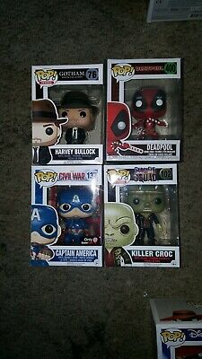 Funko Pop Lot Marvel DC
