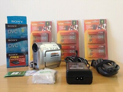 MINT Sony Handycam DCR-HC21 Mini DV Camcorder with NEW BATTERY AND SONY CHARGER