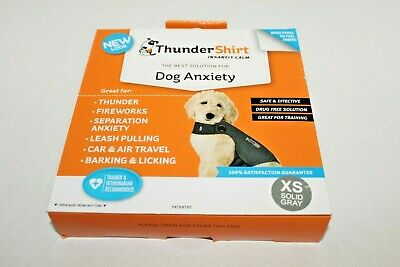 ThunderShirt Dog Anxiety Solution Size XS 8-14 lb Solid Grey Calming Shirt