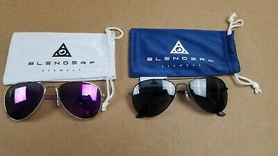 Blenders Eyeware Avaitors Purple & Black Set Of Two