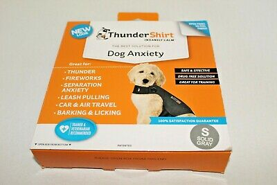 ThunderShirt Dog Anxiety Solution Size S Small 15-25 lb Solid Grey Calming Shirt
