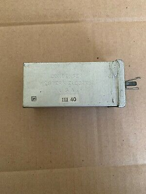 Western Electric 137A Condenser/Capacitor 4MF