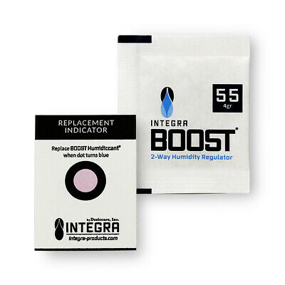 12 Pack Integra Boost RH 55% 4 gram Humidity 2 Way Control Humidor Pack