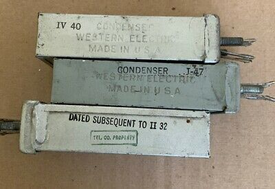 Western Electric 139C Condenser/Capacitor 1MF