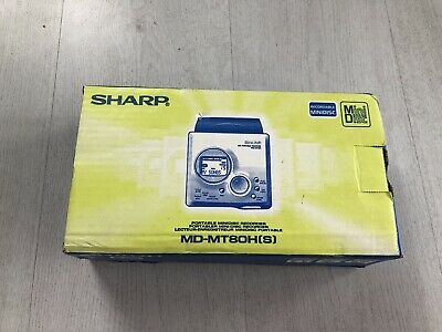 Sharp Md-Mt80Hs Personal Minidisc Player (New Old Stock)