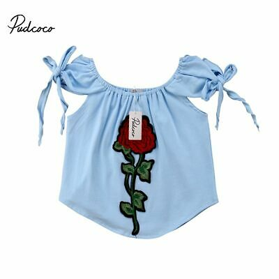 Baby Blouse Cute Toddler Kids Girls Cotton Flower Summer Infant Sleeveless Cloth