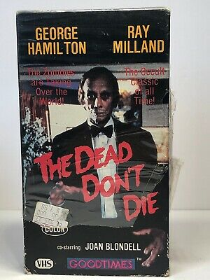 """The Dead Don't Die VHS Horror Ray Milland """"Occult Classic of All Time!"""""""