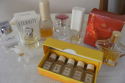 Collectable Small and Miniature bulk lot Empty Perfume Bottles