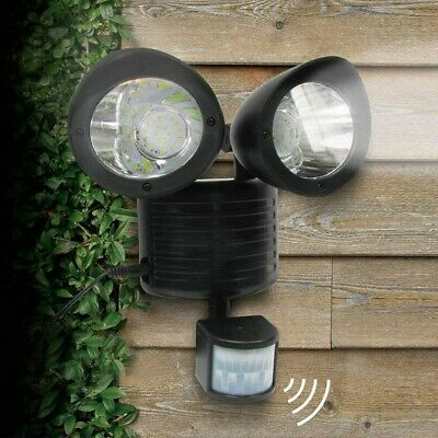 22LED Detector dual Foco solar lampara sensor de movimiento luz Floodlight