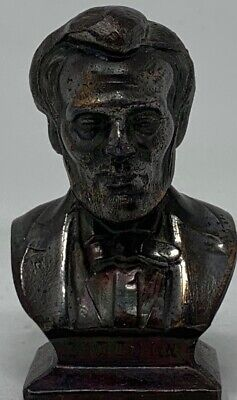 Brass President Abraham Lincoln Head Bust Plaque