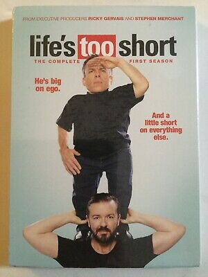 Life's Too Short (DVD) The Complete First Season NEW HBO Show with Ricky Gervais