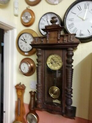 (703) EXTRA LARGE VIENNA 1930TO 40s LONG CASE CLOCK WIND UP MOVEMENT AND CHIM