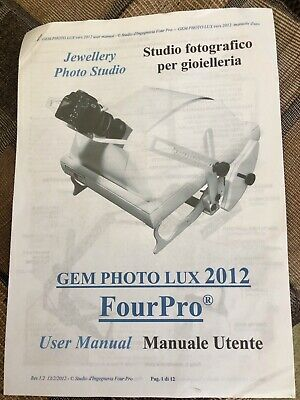Four Pro Gem Photo lux 2012 Jewellery photo studio excellent condition. As new
