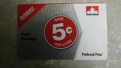 Petro Canada Fuel Savings Card - 5¢ off 140L