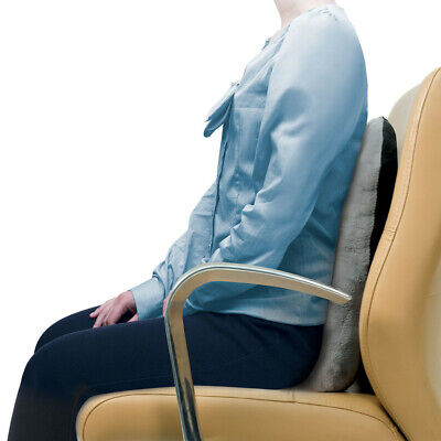 Back Support Posture Pillow Cushion - Gray - Lumbar Car Pain Relief Travel