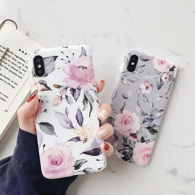 Ordinary Flower Matte Soft Silicone Case Cover For iPhone XS Max XR X 8 6 7 Plus