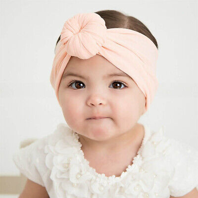3Pcs Baby Girls Kid Toddler Bow Knot Hair Band Headband Stretch Turban Headwrap