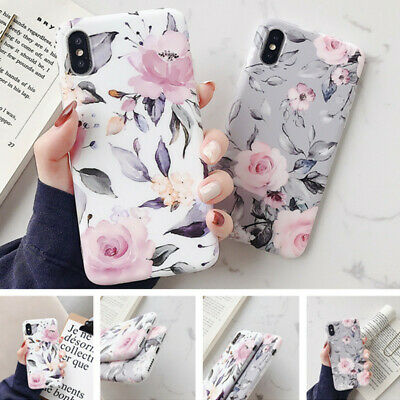 Luxury Hot Sell Gray Simple Flower Pattern Matte Soft Slim Phone Back Case Cover