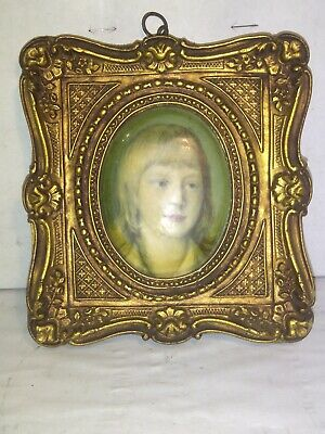 1900s VICTORIAN GOLD GILT ORNATE  WOOD FRAME Picture Frame 5.5 x 5