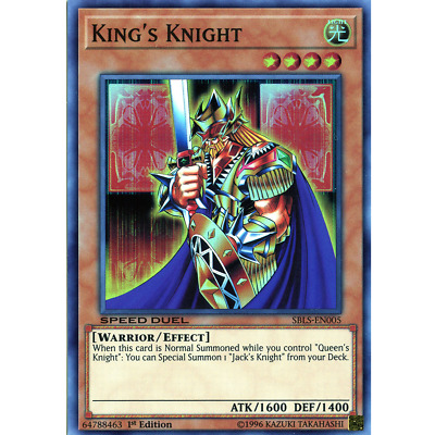 King's Knight - SBLS-EN005 - Super Rare - 1st Edition - YGOMARKET.COM