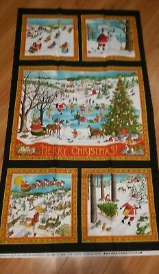 """MODA Quilt Panel ~ FOREST FRIENDS ~ by Ingrid Slyder    24/""""X 45/"""""""
