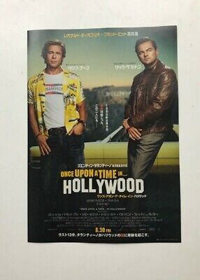 Once Upon a Time in Hollywood  MOVIE FLYER  mini poster Chirasi New F/S