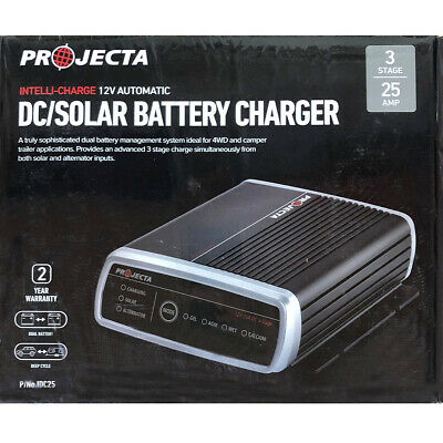 Automatic DC Solar Battery Charger, 3 Stage Dual Battery Charger