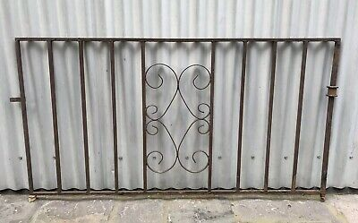 Vintage Retro Wrought Iron Decorative Metal House Garden Gate Wall Grill Melb