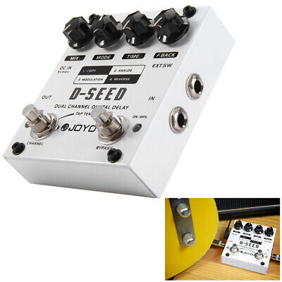 D-Seed Dual Channel Digital Delay Electric Guitar Effect Pedal TAP TEMPO 4 Mode