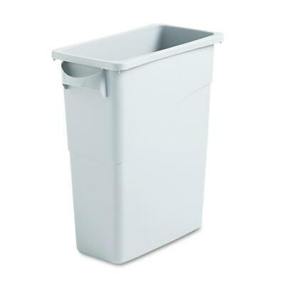 3 x Slim Jim 60 ltr  Light Grey Plastic Waste Container  Rubbermaid 3541