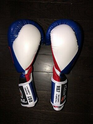 Rival RB7 Fitness Bag Training Gloves Boxing Blue Red White