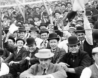 Chicago Cubs Fans at Playoff Game Against New York Giants 1908 Photo