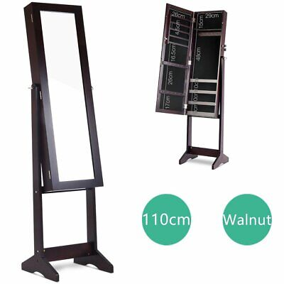 Mirror Jewellery Cabinet Storage Organiser Box Makeup Full Length Stand 110cm AU