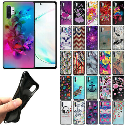 "For Samsung Galaxy Note 10+ / 10 Plus 6.8"" 2019 TPU Black Silicone Cover Case"